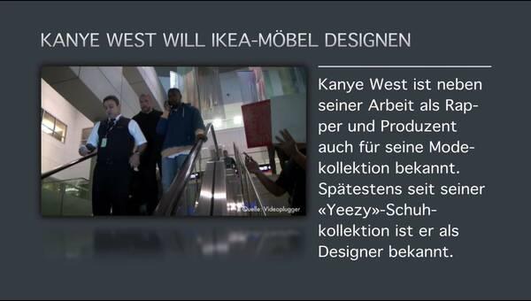Kanye West Will Ikea Möbel Designen Dpa Audio Video Service
