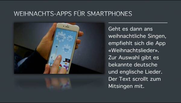weihnachts apps f r smartphones dpa audio video service. Black Bedroom Furniture Sets. Home Design Ideas